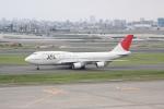 しかばねさんが、羽田空港で撮影した日本航空 747-446Dの航空フォト(写真)