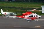 へりさんが、札幌飛行場で撮影した北海道防災航空隊 412EPの航空フォト(写真)