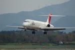 Kabaさんが、松本空港で撮影した日本エアシステム MD-87 (DC-9-87)の航空フォト(写真)