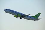 takepapaさんが、羽田空港で撮影したソラシド エア 737-4Y0の航空フォト(写真)