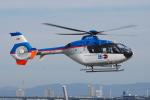 へりさんが、舞洲ヘリポートで撮影した東邦航空 EC135T1の航空フォト(写真)