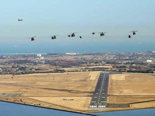 イベント画像 1枚目:木更津駐屯地上空の編隊飛行
