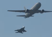 イベント画像 7枚目:KC-767とF-15の展示飛行、2019年3月のオープンベース