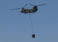イベント画像 9枚目:CH-47J、水4トンの空中消火