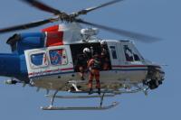 イベント画像 10枚目:愛知県防災ヘリコプター「わかしゃち」の救助展示