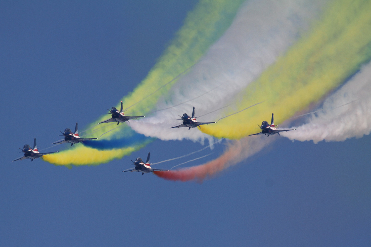 イベント画像 1枚目:中国空軍「八一飛行隊」による編隊飛行