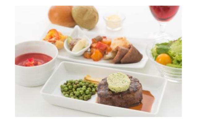 イベント画像 1枚目:JALの機内食で使用されている食器 イメージ