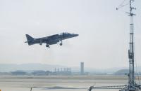 ニュース画像:アメリカ海兵隊AV-8BハリアーII、沖縄本島北の辺戸岬の東で1機が墜落
