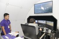 ニュース画像:タイ国際航空、「ツーリズム EXPO」でフライトシミュレーターが人気