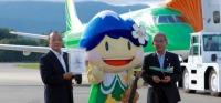 ニュース画像:フジドリームエアラインズ、11号機「JA11FJ」が松本市観光大使を引継ぎ