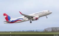 ニュース画像:ネパール航空、新塗装のA320初号機を受領 新塗装で機材更新へ