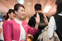 ニュース画像 1枚目:ピーチ、羽田空港でに就航セレモニーの様子