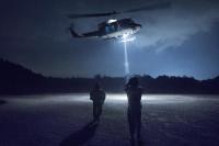 ニュース画像:横田基地459ASと小松救難隊、UH-1Nを使用した夜間救難訓練を実施