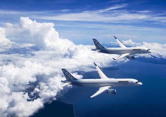 ニュース画像 1枚目:ボンバルディアの最新鋭機、CS100とCS300