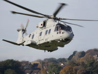ニュース画像:レオナルド、イギリス海軍向けAW101マーリンMk4 ヨービル施設で初飛行