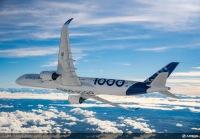 ニュース画像:エアバス、A350-1000初号機の初飛行 成功裡に完了 4時間18分の飛行