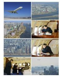 ニュース画像:北朝鮮 金正恩第一書記の専用機と見られるIL-62とその機内の画像
