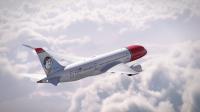 ニュース画像 1枚目:ノルウェー・エアシャトル、787の尾翼に描かれた「エミー・ジョンソン」のイメージ