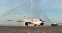 ニュース画像 1枚目:オークランドで世界最長の定期便の就航を歓迎