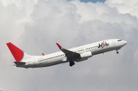 ニュース画像:JALの737-800が就航10周年 羽田空港で記念セレモニーを実施