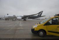 ニュース画像 2枚目:雨のパリに到着したA350 XWB