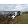 ニュース画像 3枚目:事故機の破損状況