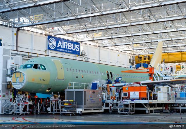 ニュース画像 1枚目:エアバスの最終組立工場
