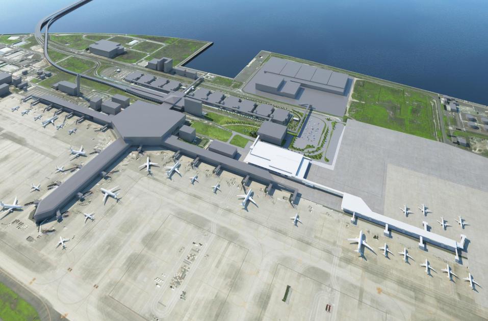 ニュース画像 1枚目:新ターミナルビルの配置イメージ