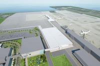 ニュース画像 3枚目:北東方向から見た新ターミナル。787展示施設「FLIGHT OF DREAMS」とは通路で直結。