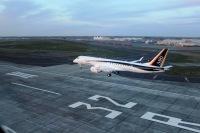 ニュース画像:三菱航空機、MRJ飛行試験機3号機がモーゼスレイクに到着 4機体制に