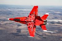 ニュース画像:カナダ空軍CF-18デモンストレーション・ホーネット、建国150周年塗装に