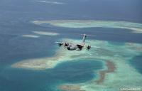 ニュース画像:フランス空軍A400M、日付変更線を跨ぎタヒチへ飛行