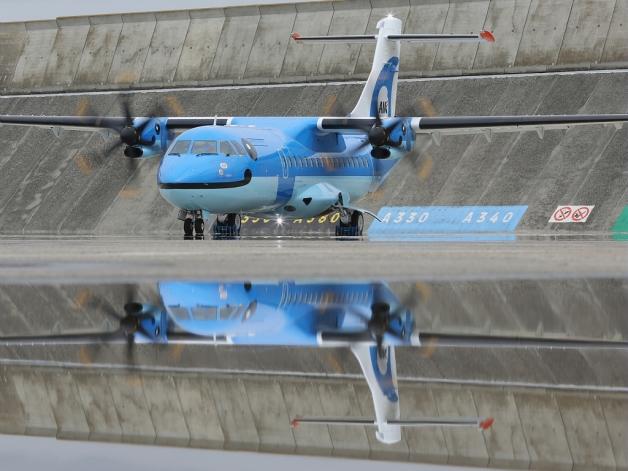 ニュース画像 1枚目:天草エアライン塗装のATR 42-600