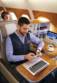 ニュース画像:エミレーツ航空、機内の無料Wi-Fiサービスを拡大 誰でも20MBまで無料