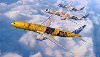 ニュース画像:STAR WARS ANA JET、7月18日から全4機で特別機内アナウンス