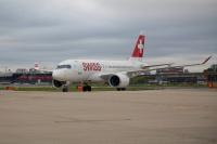 ニュース画像:SWISS、チューリッヒ/ロンドン・シティ線にCS100を初投入