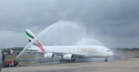 ニュース画像:エミレーツ、コロンボへ1回限りのA380特別便を運航 滑走路補修完了で