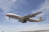 ニュース画像 1枚目:737 MAXに搭載するLEAPエンジンの試験飛行を実施する「N747GE」