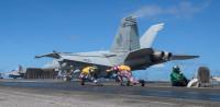 ニュース画像 1枚目:VFA-195ダムバスターズ F/A-18E、CVN-76から発艦