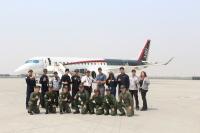 ニュース画像:MRJ、グラントカウンティ国際空港でJCABパイロットが慣熟飛行