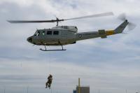 ニュース画像:横田基地459AS、UH-1Nで九都県市防災訓練に参加 ホイスト救助を実施