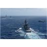 ニュース画像 3枚目:しまかぜとMH-60、奥に洋上補給中のロナルド・レーガン