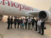ニュース画像:エチオピア航空、アフリカ航空会社で初の787-9が初飛行 デリーに到着