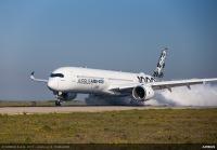 ニュース画像 1枚目:A350-1000での水吸い込みテスト