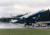 ニュース画像:ミシェル・オバマ米大統領夫人の搭乗機 アメリカ空軍C-32A【動画】