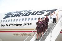 ニュース画像:エティハド航空、ワイルド・スピード7の特別塗装機をロサンゼルスで公開