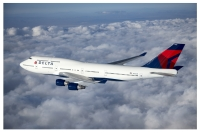 ニュース画像:デルタ航空の747-400、完全退役前に誕生地のペインフィールドへ