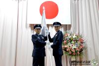 ニュース画像 1枚目:部隊旗の授与