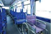 ニュース画像 2枚目:バス車内での車椅子の様子