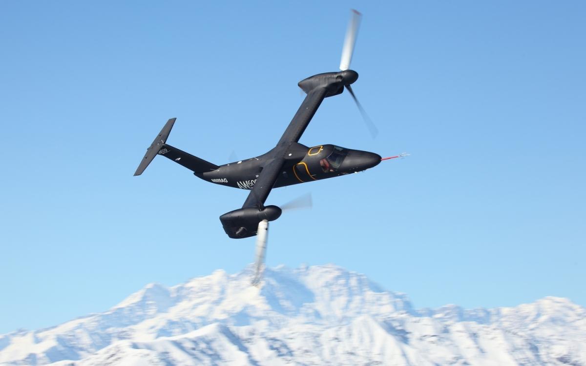 ニュース画像 1枚目:テスト飛行するAW609ティルトローター機